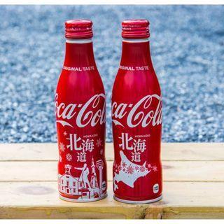 日本可口可樂北海道城市鋁樽一套兩枝