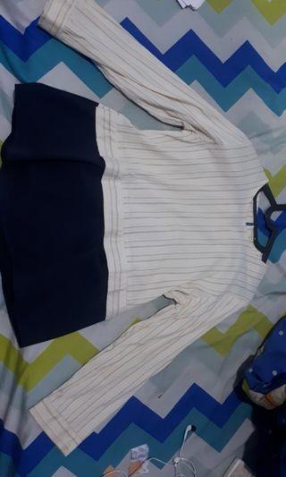 Mididress , stripe blouse
