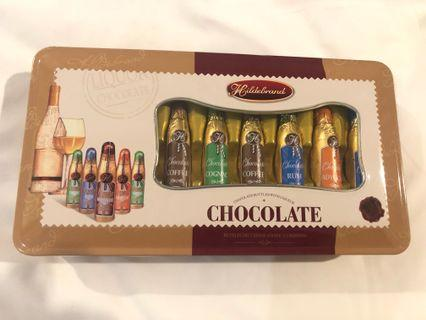 Chocolate bottles with Liqueur