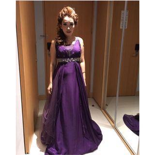 Purple Dress , gaun pesta , gaun malam