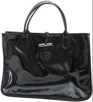 Longchamp Roseau Verni Pattern