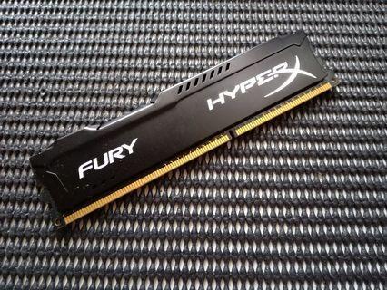 Kingston HyperX Fury 4GB 1600Mhz Black PC Ram