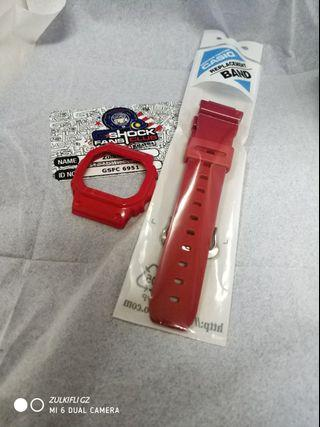 G-Shock Glossy Red Band & Bezel - RM150
