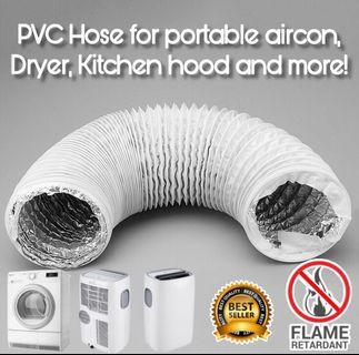 🔥PVC Hose for Portable aircon, Dryer, Kitchen hood and more! Duct/ducting/vent/pipe/aircooler/fan/air conditioner/aluminum