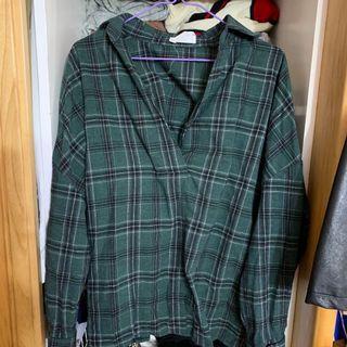 🚚 綠色格子襯衫
