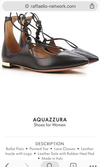 AQUAZZURA Christy Lace Up Flats