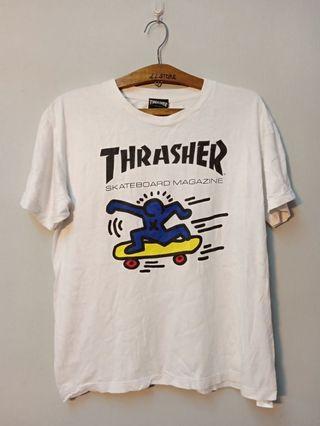 Thrasher × keith haring tee
