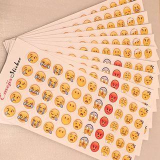 💢包郵💢Emojis Sticker 表情符號 貼紙 一套十張