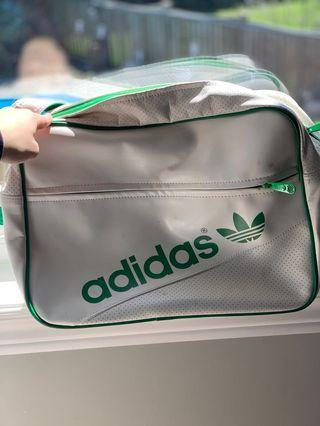 Adidas green and white multi purpose bag