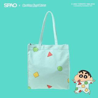 SPAO Crayon Shin Chan Tote Bag (Mint - Limited Edition)