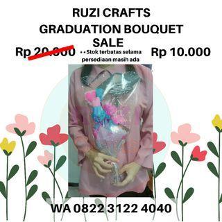 [Sale! Limited stock] Buket bunga wisuda murah