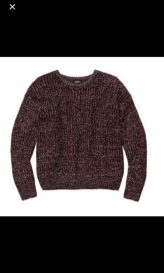 TNA burgundy sweater