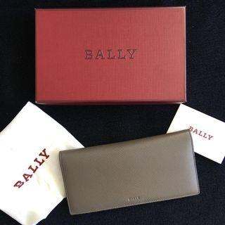 Brand New Bally LONG LEATHER WALLET Elephant Grey