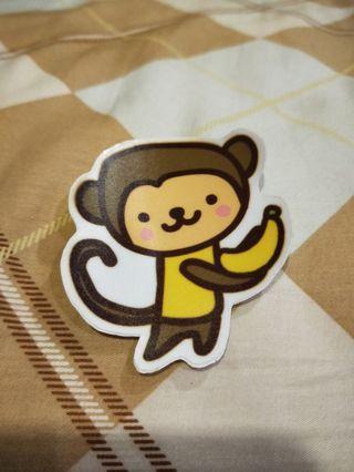 小猴彩色貼紙