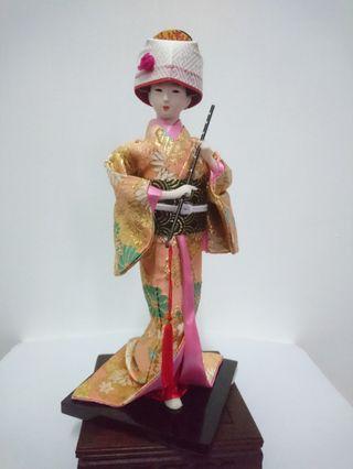 【老東西商店】早期 老收藏 日本和服藝妓人型娃娃模型 刻畫細膩 栩栩如生 室內裝飾 生活美學 古美藝術 值得典藏 保真特推!