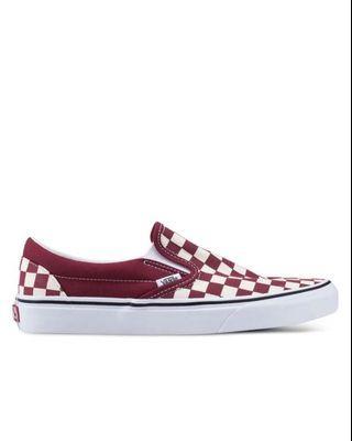 Vans Checkerboard Slip On Maroon
