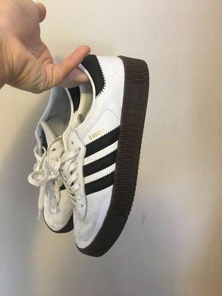 Adidas Samba White / Blk with Gum sole