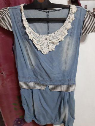 Denim dress size s fit m