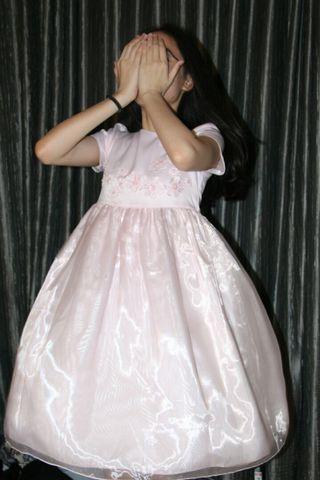 White Dress, dress anak, dress pesta anak, baju pesta anak pink, soft pink, pastel, baju pesta pastel , baju pastel pink