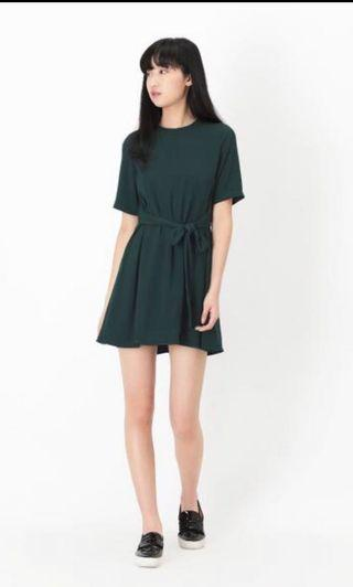 AFA Riley tie dress in forest