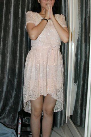 White Lace Dress , broken white dress, gaun putih, dress putih, vintage broken white dress