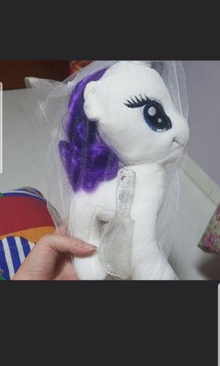 Pony toy with a comb (brand new in a bag)