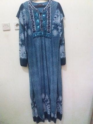 Gamis biru bunga2