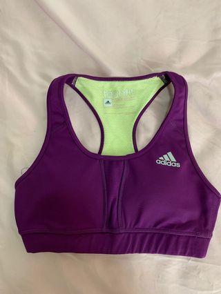 Adidas Sport Bra Warna Ungu Size S dgn Bra Insert