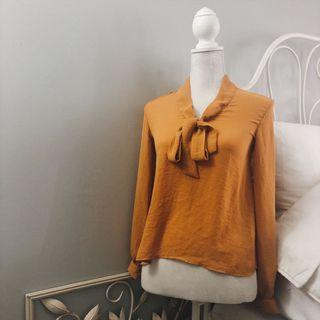H&M Tie Neck Silk Blouse