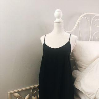 Forever21 Black Camisole Cross Back Dress