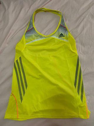 Adidas Clima Cool Halter Top Kuning Size 34 (S)