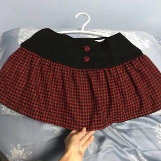 🚚 鬆緊 千鳥紋 短裙