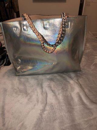 Holographic tote from Nordstrom