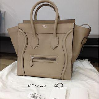 Authentic New Celine Mini Luggage in Dune