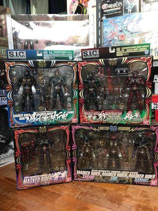 🚚 SIC Hibiki Set of 4 boxes Vol 32, 33, 34 and a limited version set SIC Kamen Rider