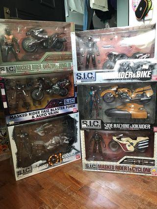 🚚 SIC Super Imaginative Chogokin Rider Motorcycle Lot of 6