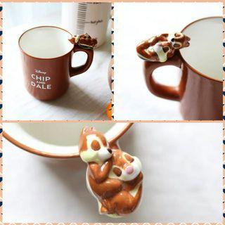 Disney chip and dale ceremic cup 迪士尼奇奇蒂蒂松鼠陶瓷杯
