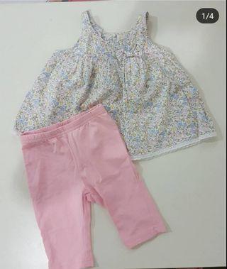 tiny button set dress/top + pant