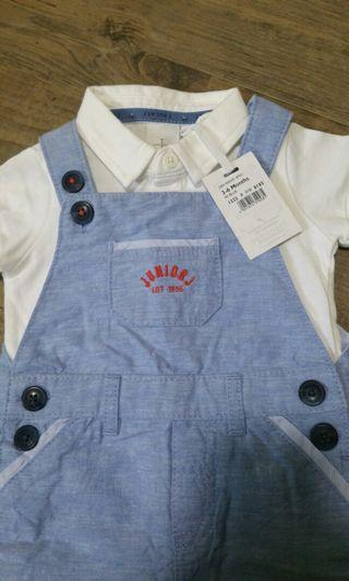 BNWT jumpsuit with polo tee (3-6mo)