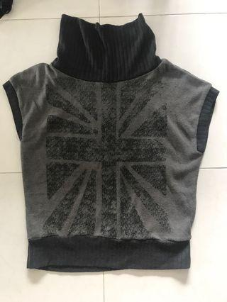 🚚 Graphic Knit Wear Sleeveless Oversized Too