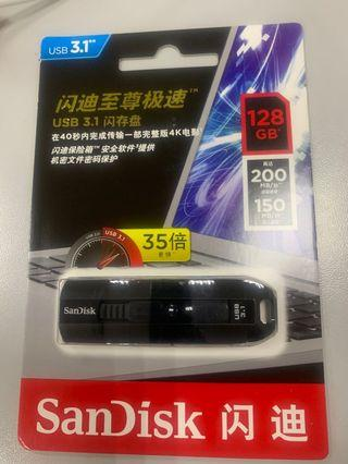 sandisk USB 3.1 128G drive