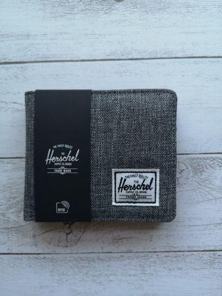Herschel Wallet(Grey-leather) Coin Compartment
