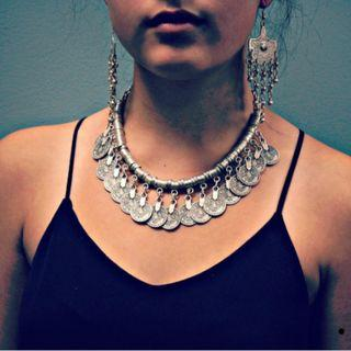 Turkish Bohemian Coin Necklace
