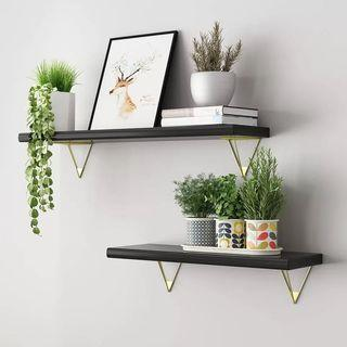 Decorative Pine Wood Wall Shelves