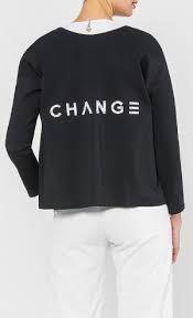 Aere CHANGE Embroidery Oversized Top in Black