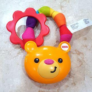 Reprice Mainan Bayi Rattle dan Teether Teddy Bear Fisher Price