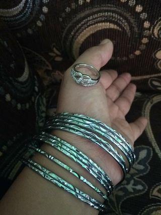 Gelang keroncong isi 11 free cincin