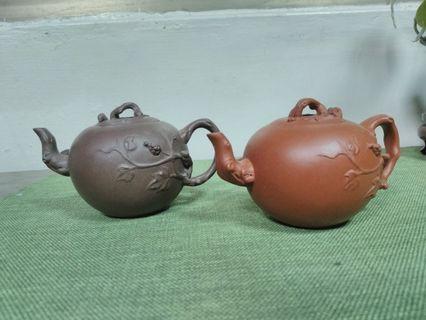 宜興早期壺葡萄松鼠一對