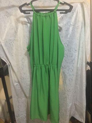 Green Zara Halter Dress