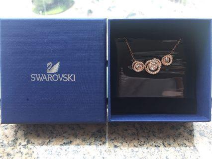 Swarovski 玫瑰金頸鏈母親節禮物